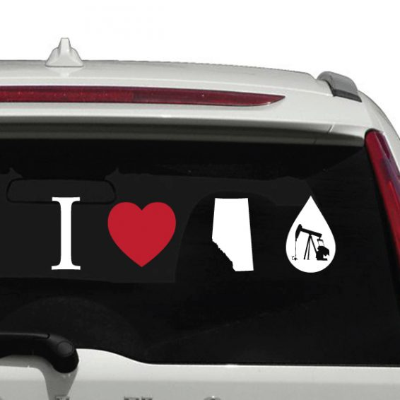 I Love Alberta Oil Bumper Sticker