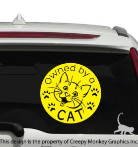 cat vehicle decal