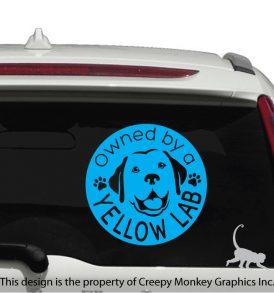 dog vehicle decal