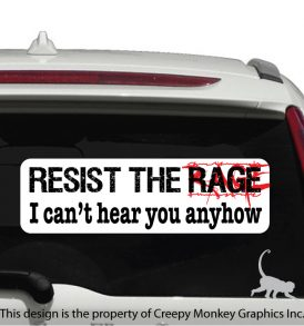 Anti Road Rage sticker