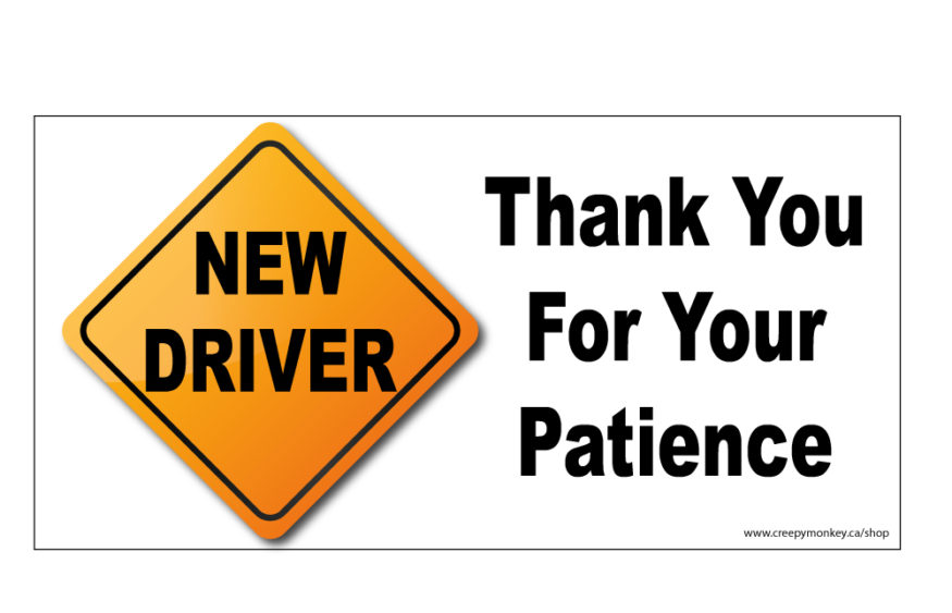 graphic relating to Student Driver Sign Printable titled 100+ College student Driver Sticker Print Out yasminroohi