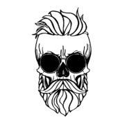 hipster_skull_decal