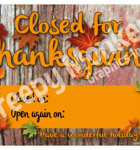 thanksgiving sign